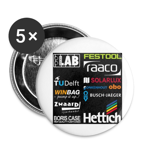 Sponsors back - Buttons small 1''/25 mm (5-pack)