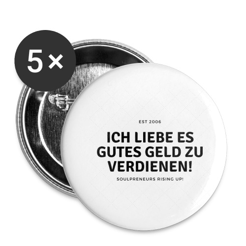 Good Vibrations - Buttons klein 25 mm (5er Pack)