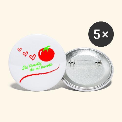 Tomates de mi huerto - Paquete de 5 chapas pequeñas (25 mm)