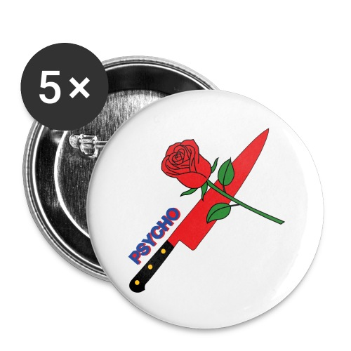 Psycho (T-Shirt Design) - Buttons small 1''/25 mm (5-pack)