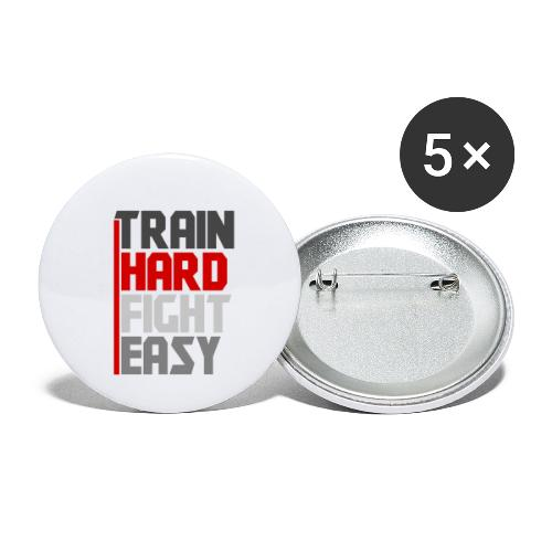 Train Hard Fight Easy - Buttons small 1''/25 mm (5-pack)