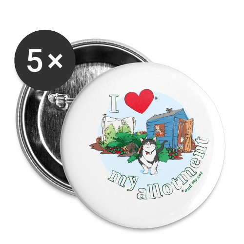 I 'love' my allotment - Buttons small 1''/25 mm (5-pack)