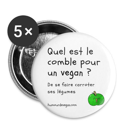 Humourdevegan.com - Comble d'un vegan - Badge petit 25 mm