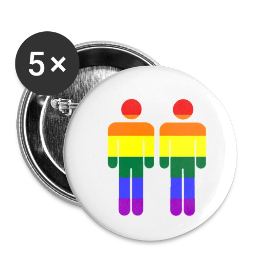 zwei Männer - Buttons klein 25 mm