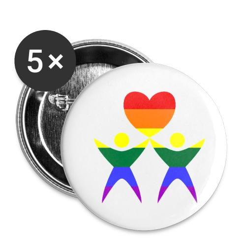 Zwei Männer Herz - Buttons klein 25 mm