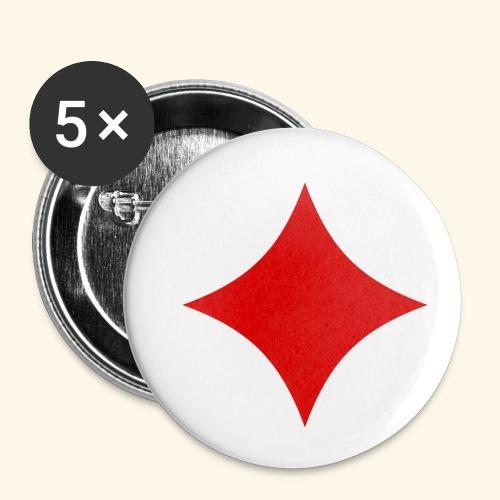 Poker - Buttons klein 25 mm (5er Pack)