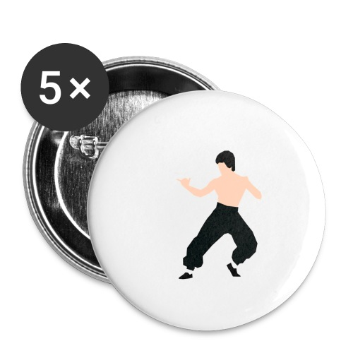 Bruce lee Kampf Pose - Buttons klein 25 mm (5er Pack)