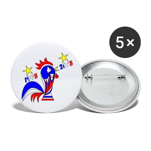 coupe du monde football 2018 mondial France 2018 - Lot de 5 petits badges (25 mm)