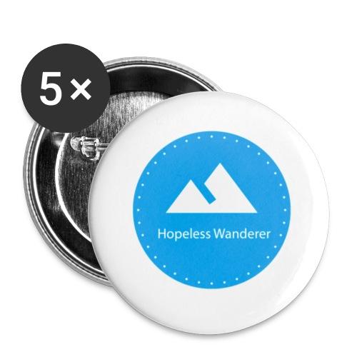 Hopeless Wanderer Logo - Buttons small 1''/25 mm (5-pack)
