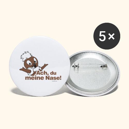Pittiplatsch 2D Ach, du meine Nase - Buttons klein 25 mm (5er Pack)