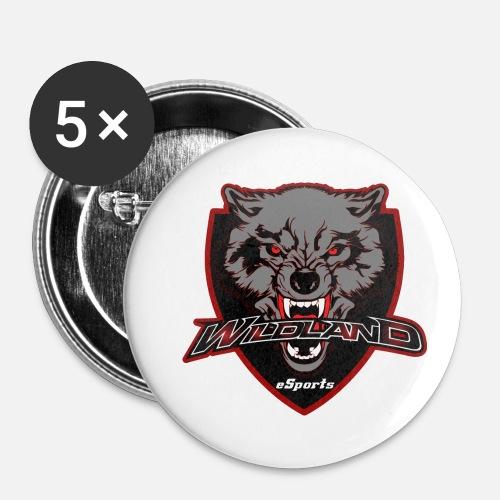 mascot Logo Widland eSports Club - Paquete de 5 chapas pequeñas (25 mm)