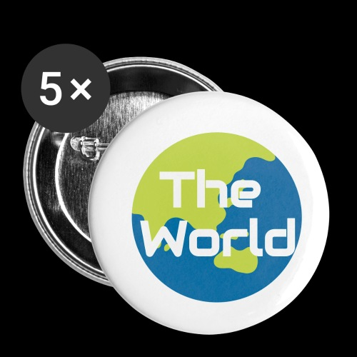 The World Earth - Buttons/Badges lille, 25 mm (5-pack)