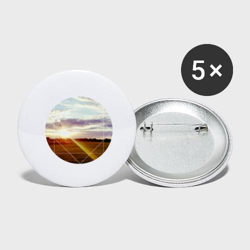 Sonnenuntergang am Platz - Buttons klein 25 mm (5er Pack)