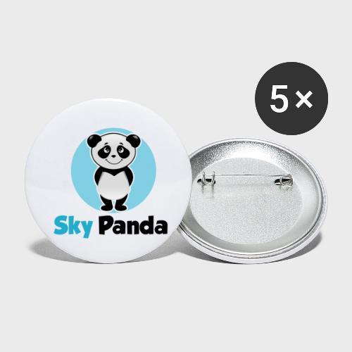 Panda Cutie - Buttons klein 25 mm (5er Pack)