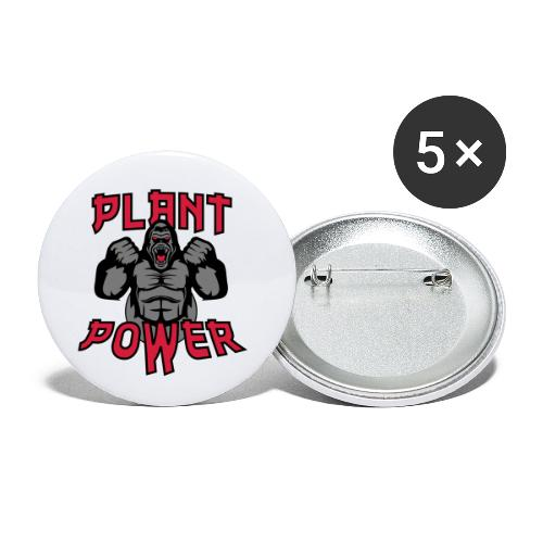 Plant Power - Buttons klein 25 mm (5er Pack)