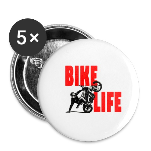 KEEP IT BIKELIFE - Buttons small 1''/25 mm (5-pack)