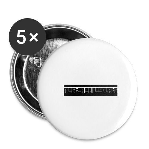 Master of Deadlifts, Geschenkidee für starke Kerle - Buttons klein 25 mm (5er Pack)