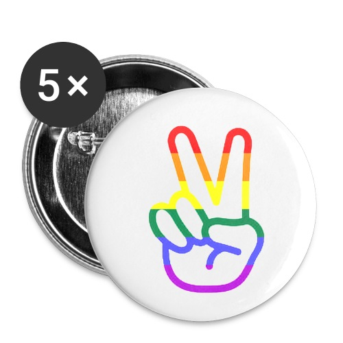 Peace Hand - Buttons klein 25 mm