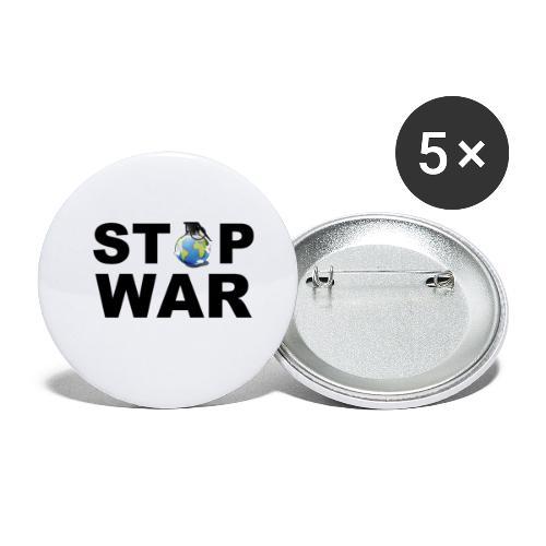 STOP WAR T-SHIRT ✅ - Buttons klein 25 mm (5er Pack)