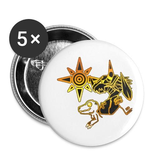 digimon - Paquete de 5 chapas pequeñas (25 mm)