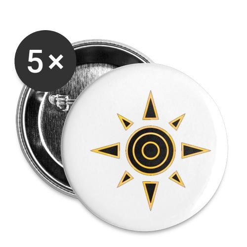 digimon 01 - Paquete de 5 chapas pequeñas (25 mm)