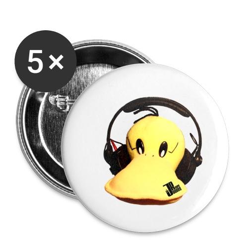 Jaques Raupé Ente - Buttons klein 25 mm (5er Pack)