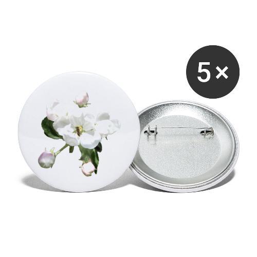 Omenankukka ja kukkakärpänen - Rintamerkit pienet 25 mm (5kpl pakkauksessa)