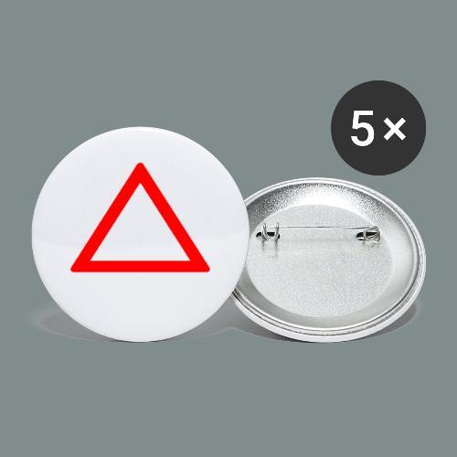 Attention batteur - cadeau batterie humour - Lot de 5 petits badges (25 mm)