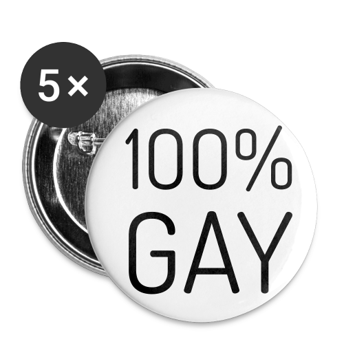 100% Gay - Buttons klein 25 mm