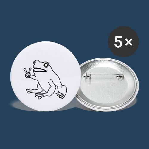 Frog Peace! by Cuerno - Buttons klein 25 mm (5er Pack)