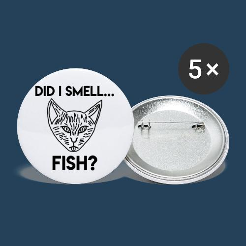 Did I smell fish? / Rieche ich hier Fisch? - Buttons klein 25 mm (5er Pack)