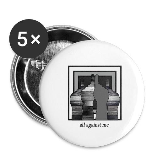 ALL AGAINST ME - Paquete de 5 chapas pequeñas (25 mm)
