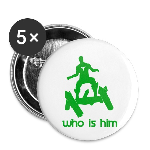 Who is that green man - Lot de 5 petits badges (25 mm)