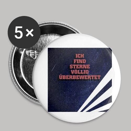 Sterne sind überbewertet - Buttons klein 25 mm (5er Pack)