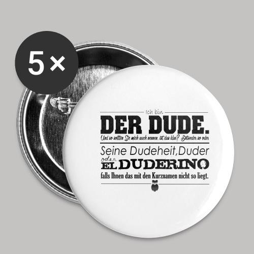 the Big Lebowski - Buttons klein 25 mm (5er Pack)