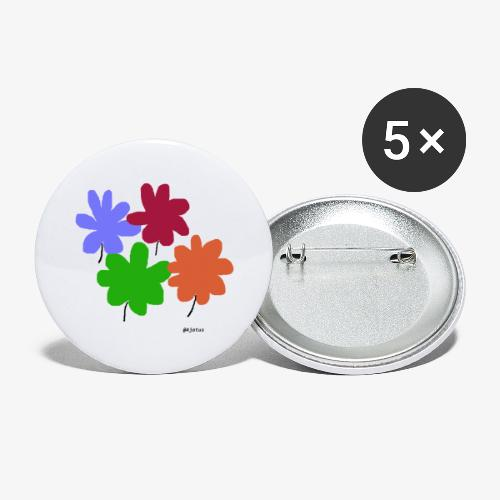 Kukat - Rintamerkit pienet 25 mm (5kpl pakkauksessa)