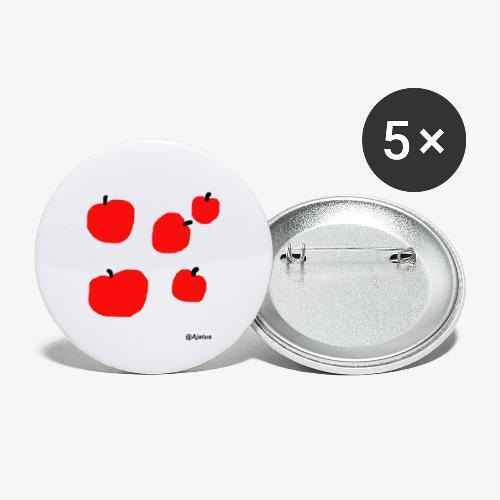 Omenat - Rintamerkit pienet 25 mm (5kpl pakkauksessa)
