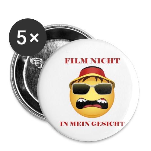 Film nicht in mein Gesicht - Buttons klein 25 mm (5er Pack)