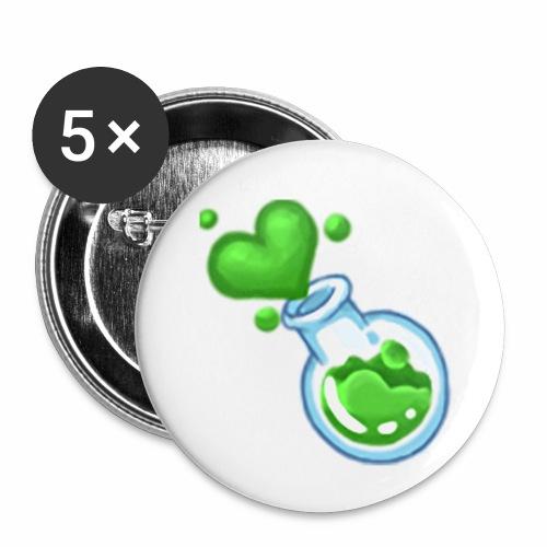 LoveFlask - Confezione da 5 spille piccole (25 mm)