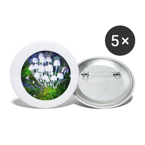 shrooms - Buttons klein 25 mm (5er Pack)