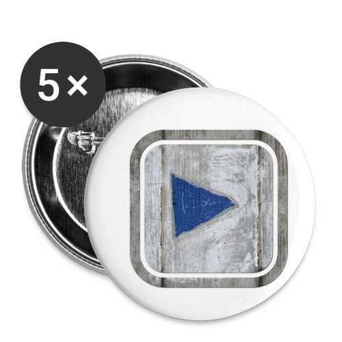 hier entlang ! - Buttons klein 25 mm (5er Pack)
