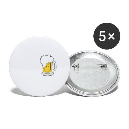 I drink beer - Buttons klein 25 mm (5er Pack)