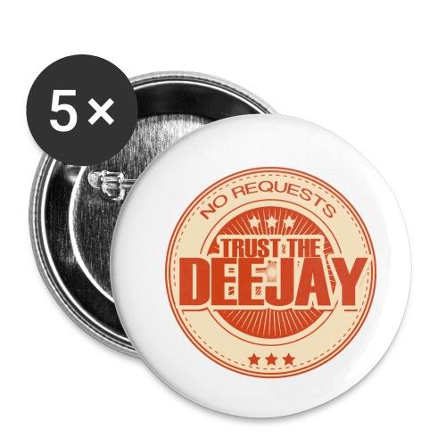 trust the dj 6 - Buttons klein 25 mm (5er Pack)