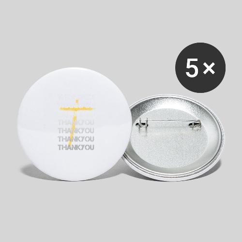 DANKE Jesus, das Geschenk für Christen THANKYOU - Buttons klein 25 mm (5er Pack)