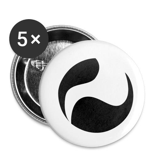 DEEPINSIDE logo ball black - Buttons small 25 mm