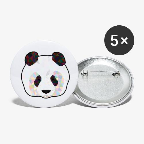 Panda - Lot de 5 petits badges (25 mm)