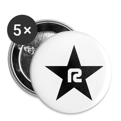 R STAR - Buttons klein 25 mm (5er Pack)