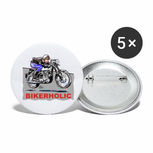 bikerholic - Buttons small 1''/25 mm (5-pack)