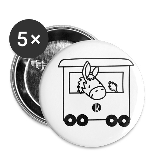 Esel Transport - Donkey Transport - Buttons klein 25 mm (5er Pack)