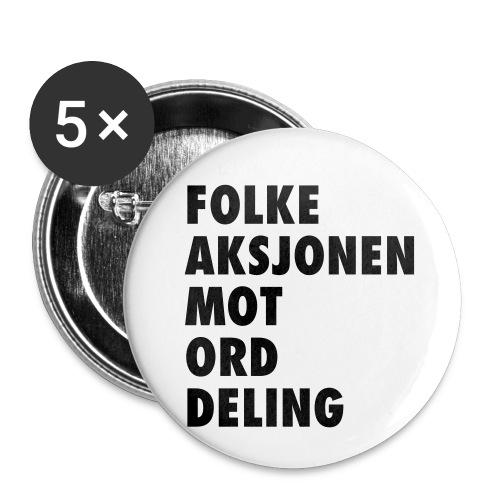 Folke aksjonen mot ord deling - Liten pin 25 mm (5-er pakke)